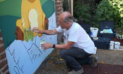Grazie a Fabrizio Vedramin la scuola materna Colombo Morandi risplende di tanti colori