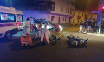 Scontro auto-moto nella notte a Castellanza
