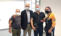 Anche il segretario Pd Enrico Letta dai lavoratori Gianetti