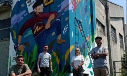 Ecco il murales che racconta il Palio delle contrade di Gorla Maggiore