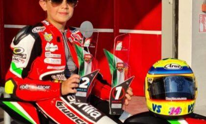 Gerenzano, il motociclista Valentino Sponga vince l'oro