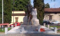 I combattenti e reduci restaurano il monumento dei caduti di Abbiate