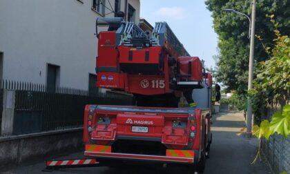 Incendio a Castellanza, Vigili del Fuoco in azione
