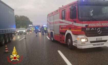Incidente a catena allo svincolo dell'A9 di Origgio/Uboldo