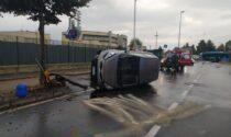 Fagnano, auto si ribalta: ferito un 79enne