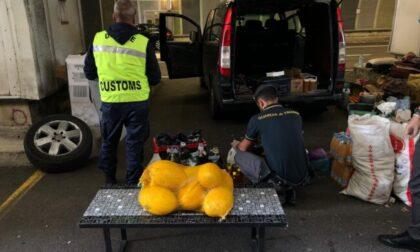 Sequestrata alla frontiera una tonnellata e mezza di prodotti alimentari in cattive condizioni