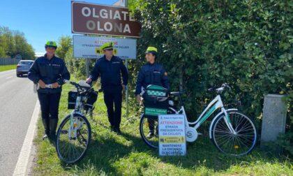 "Arrivano a Olgiate i cartelli ""salvaciclisti"""