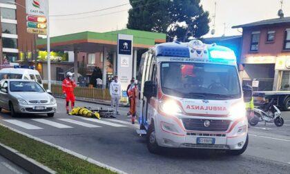 Scontro auto - moto, sirene spiegate in Varesina
