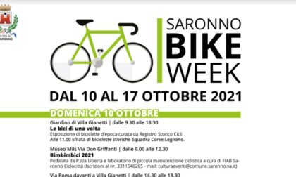 """Saronno Bike Week, Tu@ Saronno: """"Insieme per una città più vivibile e ciclabile"""""""